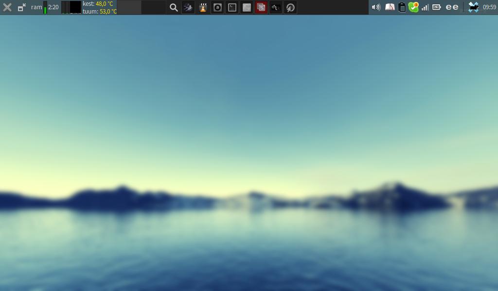 Netbook Edition screenshot after personalisation
