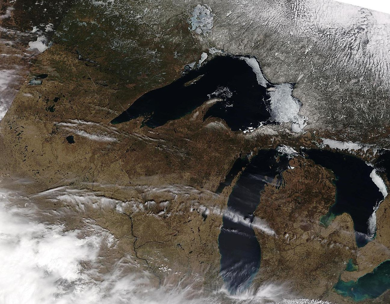 terra satellite on 2015-4-18, very pleasant in   March and April.