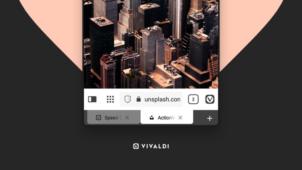 Screenshot of Vivaldi browser on Android